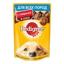 Pedigree для всех пород собак 85г говядина в соусе*