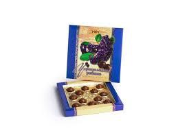 Набор конфет Черноплодная рябина ликерная в шоколаде 160г. Рахат