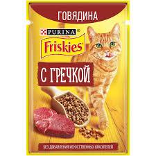 Friskies /для кошек говядина с гречкой 75г Россия *