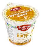 Йогурт фрукт. груша/манго/злаки 6% 140г. бзмж  стакан Глазов
