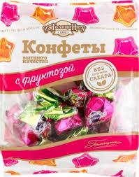 Конфеты Пралине молочное с орех. с фруктозой 180г Голицын