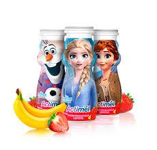К/молочный продукт Actimel  Клубника -банан  100г.