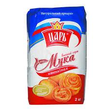 Мука пшеничная в/с 2кг пакет Царь