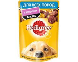 Pedigree для всех пород собак с ягненком в желе 85г*