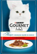 Gourmet Перл нежное филе в соусе с говядиной 85г м/у