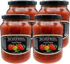 Лечо в томатном соусе 700гр с/б Боярин*