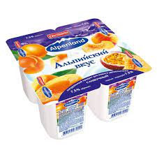 Йогуртный продукт пастер. Alpenland 0.3% бзмж 60г персик/маракуйя