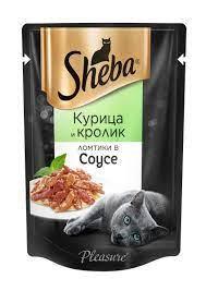 Sheba курица/кролик ломтики в соусе 85г *