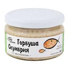 Горбуша-скумбрия рубленая с чесноком 180гр ст/б Россия