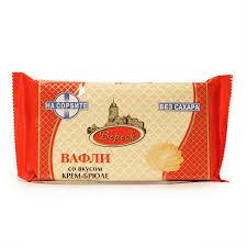 Вафли крем-брюле на  сорбите 105г  Вереск