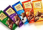 Шоколад  Alpen Gold в ассорт.90г
