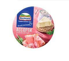 Hochland Сыр  плавл.сливочный/с беконом круг 55% 140г