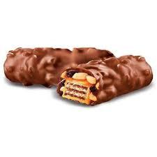 Вафли глазир.мол. шоколадом с орехом и изюмом 1кг Яшкино