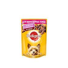 Pedigree для мини собак ягненок с овощами в соусе  85г*