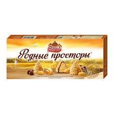 Конфеты Родные просторы с арахисовой нач. и ваф. крошкой 125г