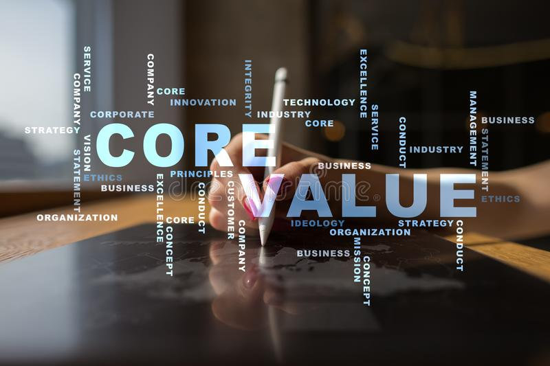 core-value-virtual-screen-business-conce