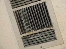 Mold in a ceiling register