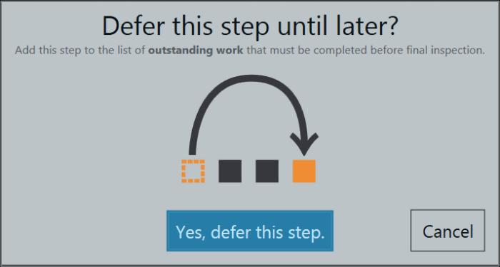 Deferring Steps