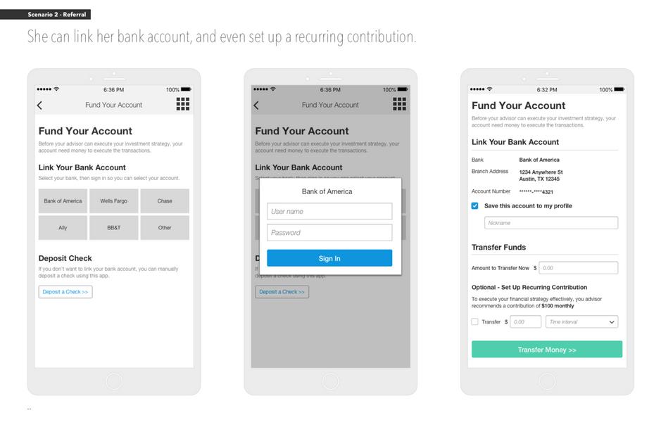 Client App: Account Funding