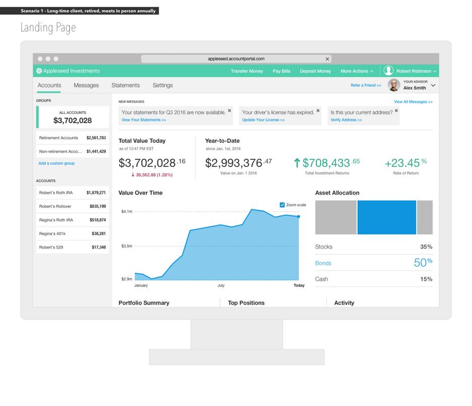 Client Portal: Landing Page