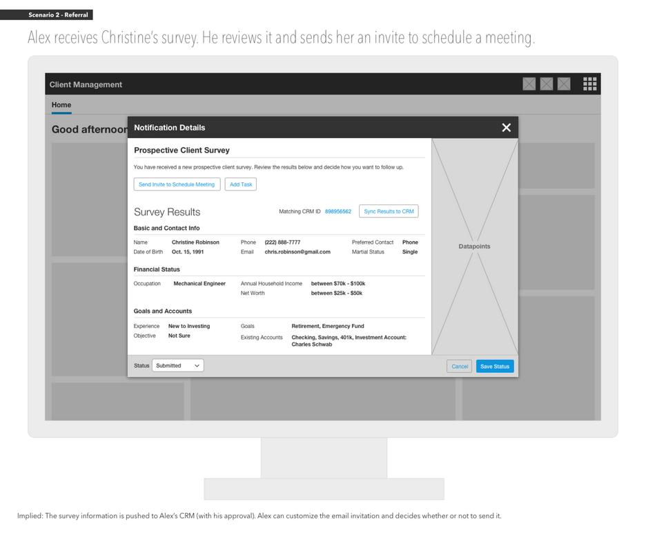 Advisor Portal: Prospect Notification