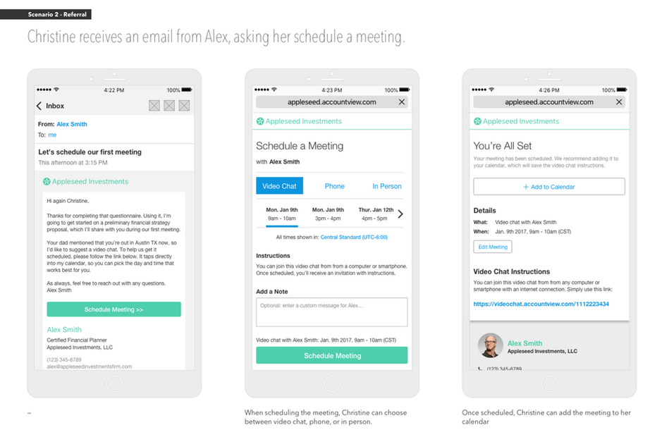 Easily Schedule Client & Advisor Meetings