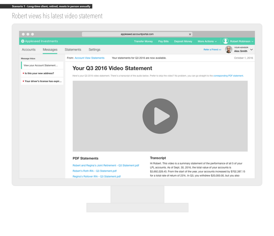 Client Portal: Video Statements