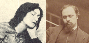 Photos: Lizzie Siddall in 1860 and Dante Rossetti in 1863