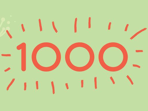 1000 obrigados!