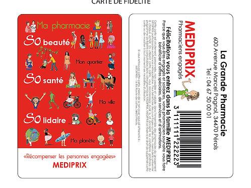 1 LOT 1000 cartes de fidélité personnalisables + Flyers (livraison comprise)
