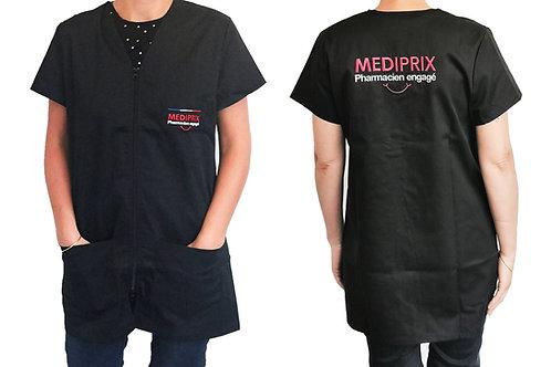 SOURIRE / Femme / blouse noire / fermeture noire /simple