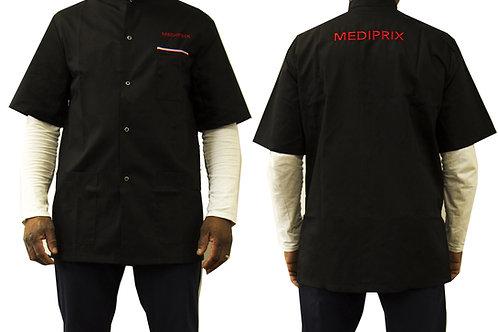 GILLES / Homme / blouse noire / fermeture noire / simple