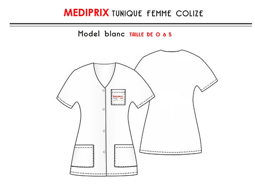 MEDIPRIX 1 TUNIQUE BLANCHE COLIZE