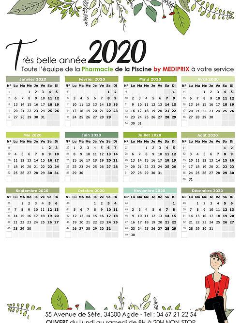 Le lot 2000 calendriers magnétiques Format 15X21 - FRAIS DE LIVRAISON INCLUS