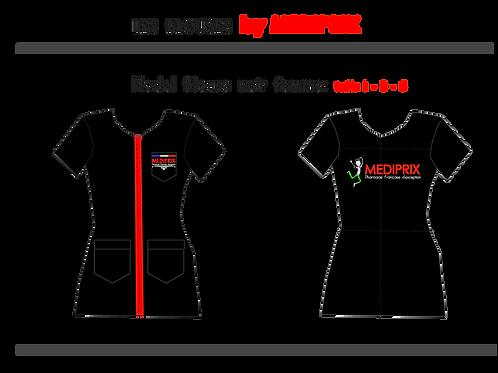 MASCOTTE / Femme / blouse noire/ fermeture rouge