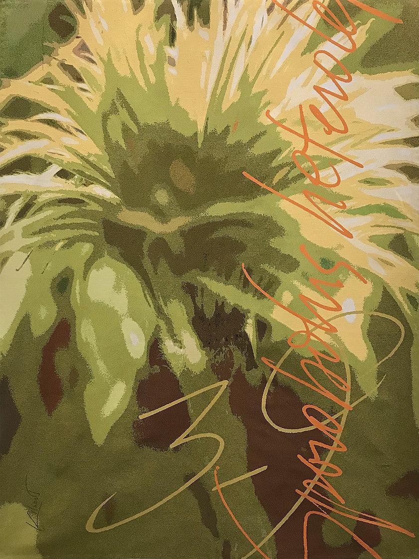 A digitally woven tapestry of grasses titled Sporobolus Heterolepis Zones 3 - 9 by artist Krista Kilvert