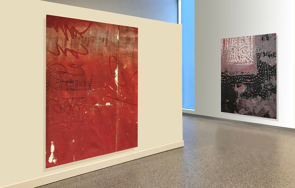 Gallery exhibition highlighting two digitally woven tapestries by artist Krista Kilvert