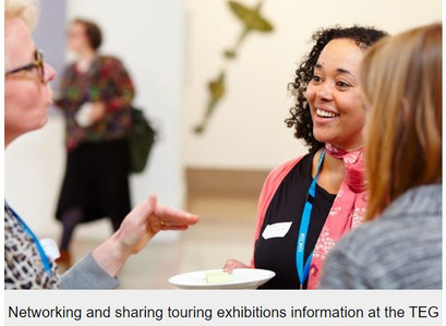 What did the Touring Exhibitions Group's survey tell us about touring in the London region?