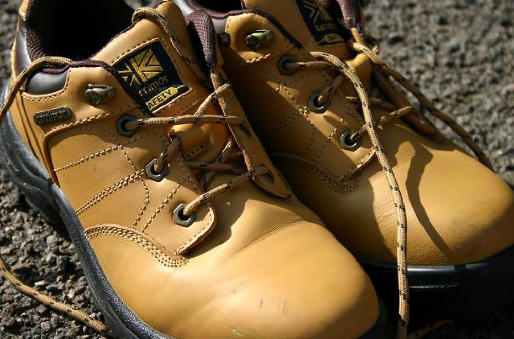 Jade's steel cap toe boots