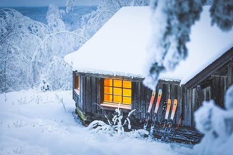 Skinbased™ skis cabin