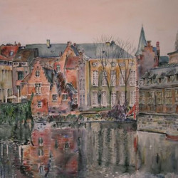 Ghent, View from the Vleeshuisbrug