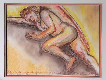 "Paintings and their stories, nr. 1: ""Laisse-moi dormir, je suis fatigué""."