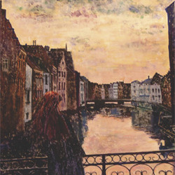Ghent, View from the Zuivelbrug (frg