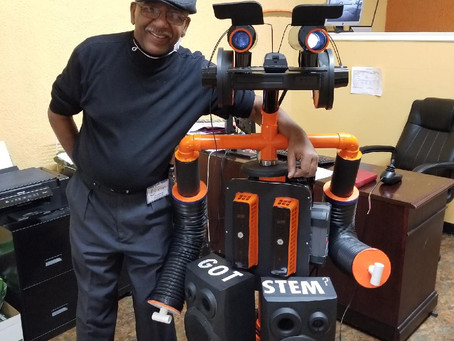 Meet Roger PASA's first robot.