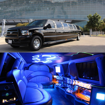 excursion limo, suv limo, limousine, stretch limousine, ford limo