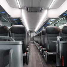 56 seater coach bus, rent coach, coach charters, charter bus coach, coach for large group, luxurious coch bus, luxury coach, insde of luxury coach bus