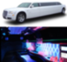 chrysler 300, stretch limousine, led lights, 8-10 passenger limo, white, black, 300 limo