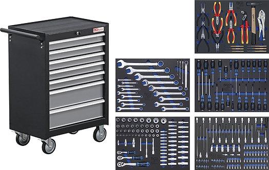 Werkstattwagen 7 Schubladen mit 243 Werkzeugen BGS-4060