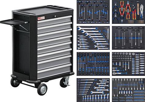 Werkstattwagen 8 Schubladen mit 296 Werkzeugen BGS-4050