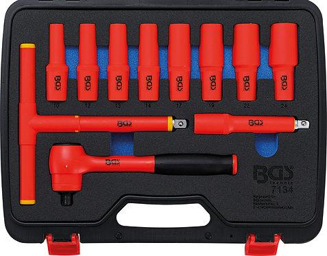 """VDE-Steckschlüssel-Satz Antrieb 12,5 mm (1/2"""") SW 10 - 24 mm 11-tlg. BGS-7134"""